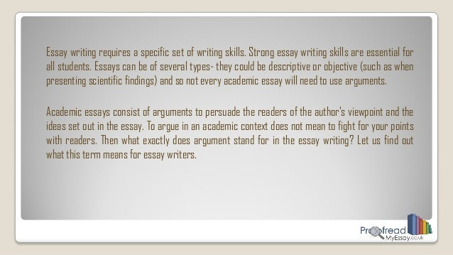 academic argument essay example