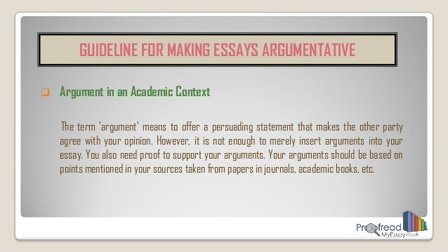 academic arguments essays Academic integrity essay 1305 words | 6 pages academic integrity and honor codes in schools in today's society, there is a trend being set by both college and high school students.
