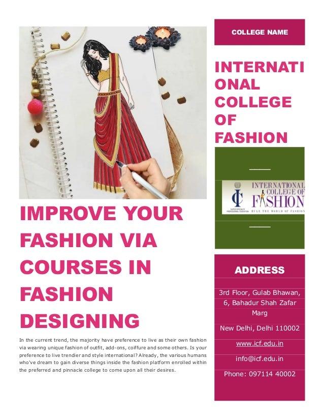 Improve Your Fashion Via Courses In Fashion Designing