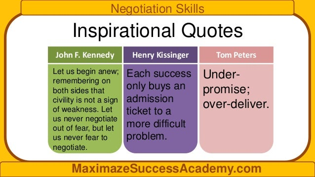 Improve Your Negotiation Skills
