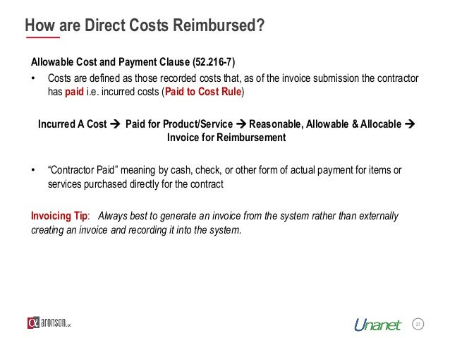 Improve Your Outcomes On Cost Type Contracts - Invoice submission meaning