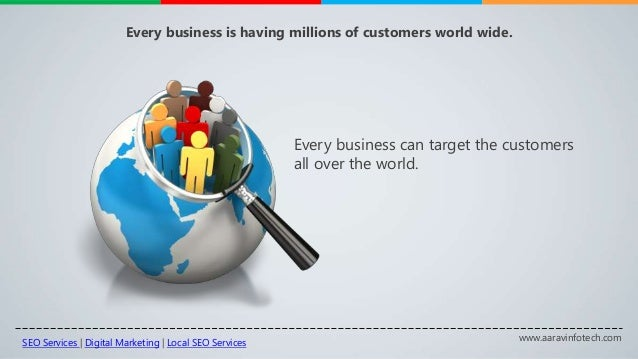 www.aaravinfotech.com Every business is having millions of customers world wide. Every business can target the customers a...