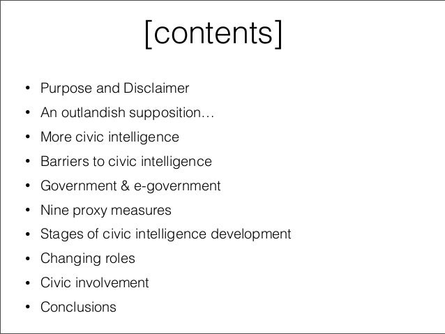 Improving Civic Intelligence: Repairing the Engine on a Moving Car? Slide 2
