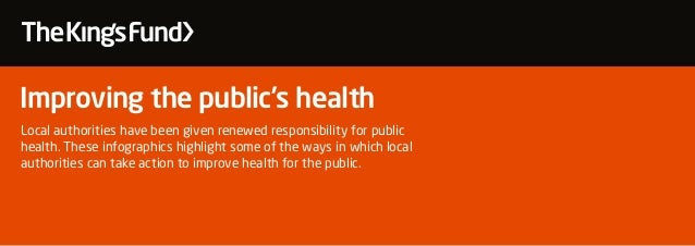 Improving the public's health Local authorities have been given renewed responsibility for public health. These infographi...