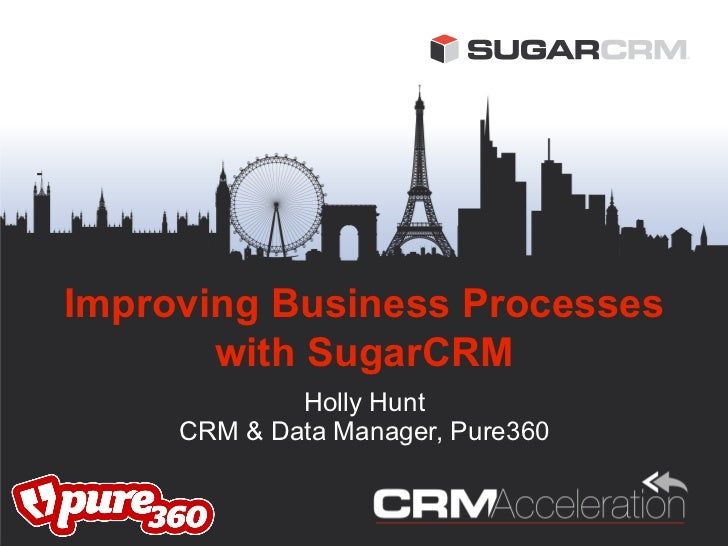 Improving Business Processes       with SugarCRM             Holly Hunt     CRM & Data Manager, Pure360