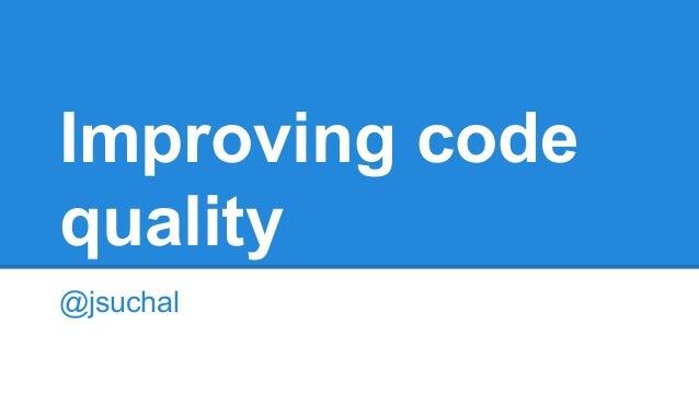 Improving code quality @jsuchal