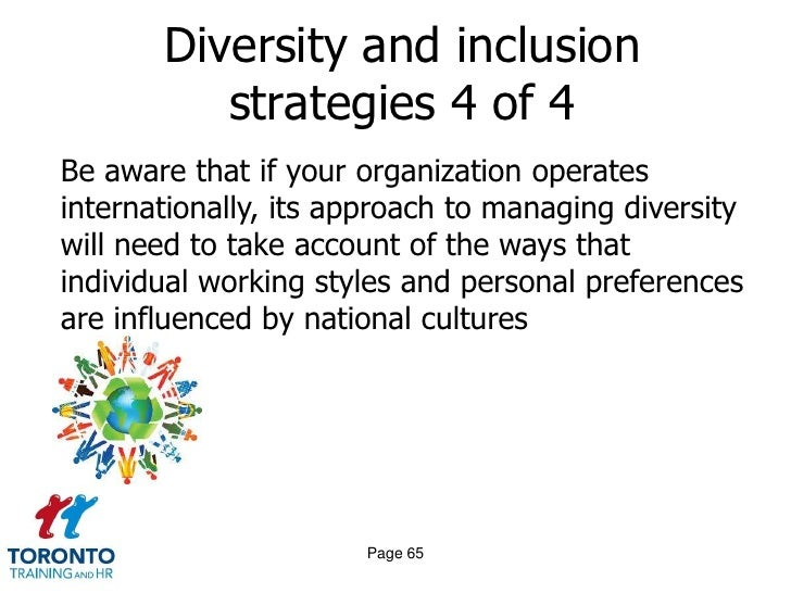 strategies to manage diversity Looking to better manage diversity in the workplace  culture of tolerance, open communication and creating conflict management strategies.
