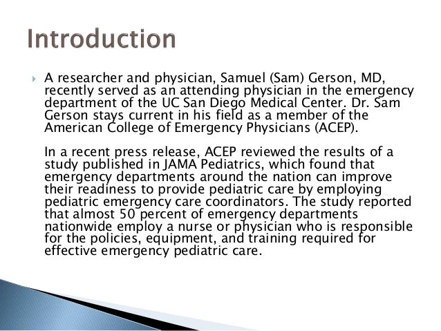 Improving Emergency Department Readiness for Pediatric Care
