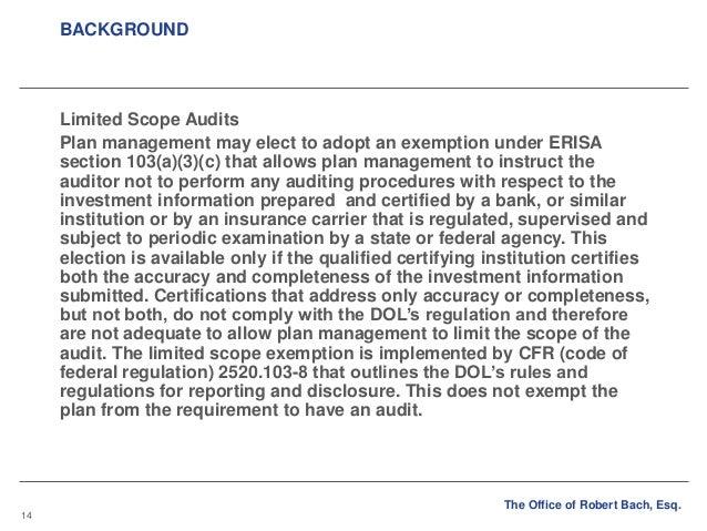 improving employee benefit plan audits