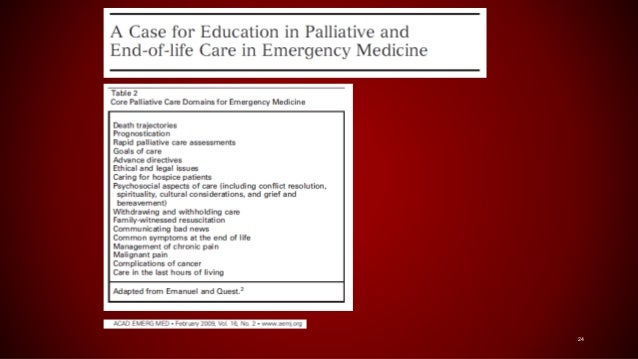 Improving End-of-Life Care in the Emergency Department