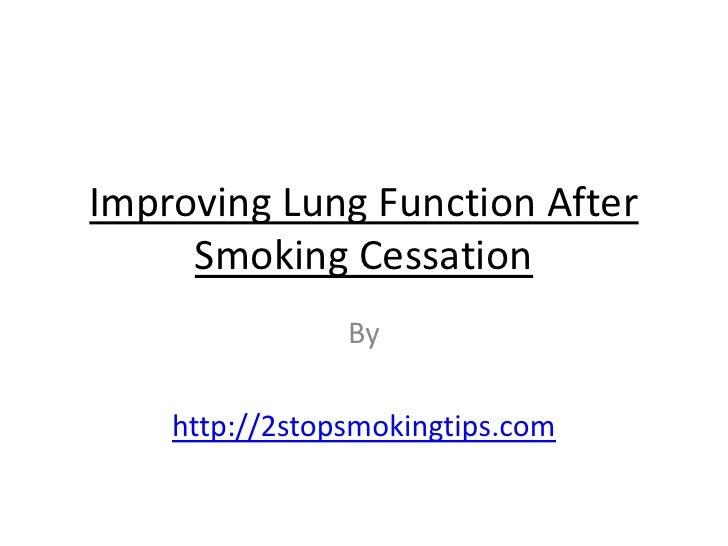 After smoking cessation