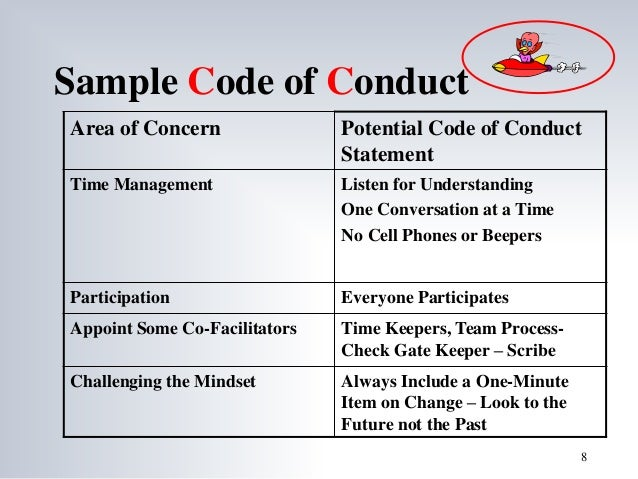 Sample Code Of Conduct ...