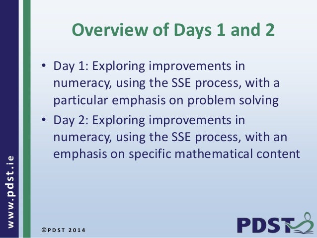 sse numeracy problem solving
