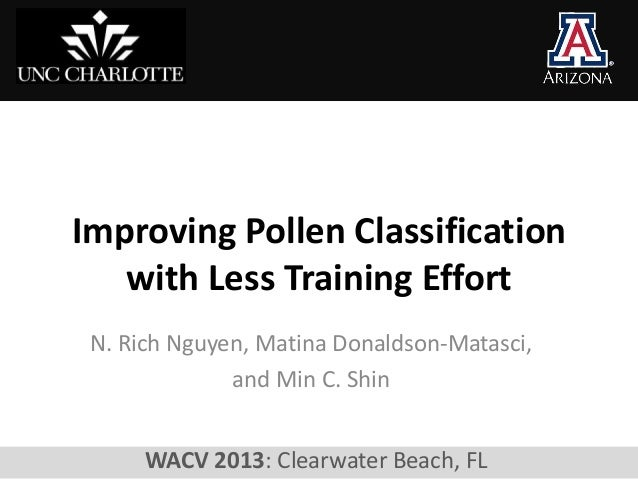 Improving Pollen Classification   with Less Training Effort N. Rich Nguyen, Matina Donaldson-Matasci,              and Min...