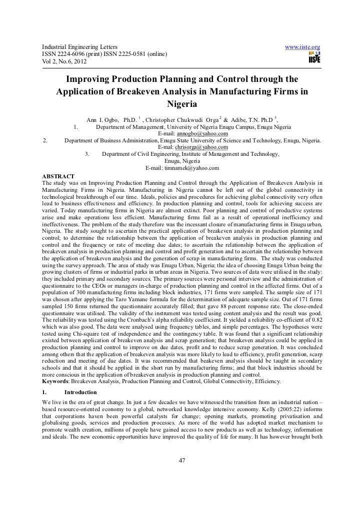 Industrial Engineering Letters                                                                             www.iiste.orgIS...