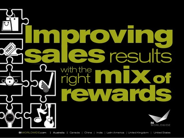 Improving sales results right mix of with the  rewards  BI WORLDWIDE.com  | Australia | Canada | China | India | Latin Ame...