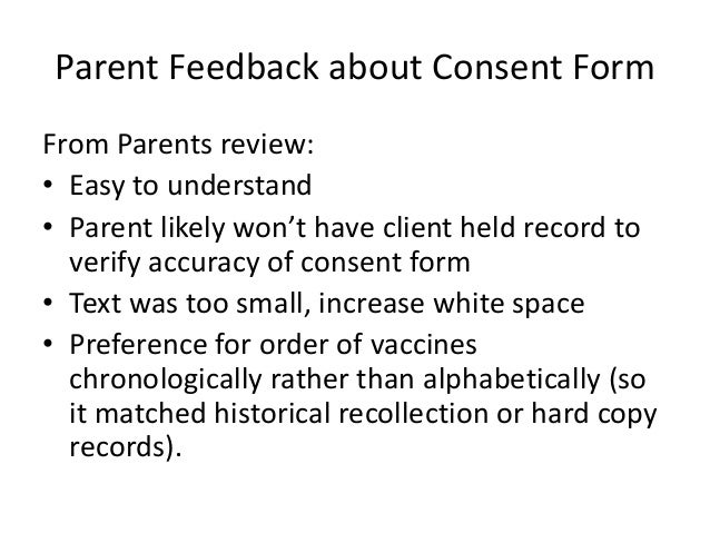 Improving school based immunization using individual consent forms