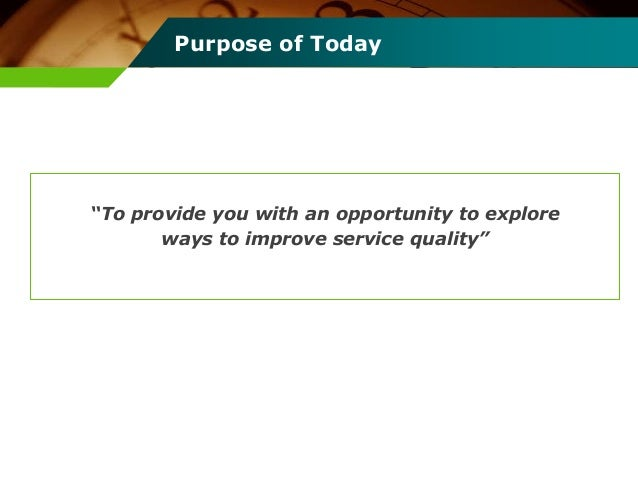 a study on improving service quality International journal of scientific and research publications, volume 6, issue 7,  july  they pointed out the significance of improving service quality which.