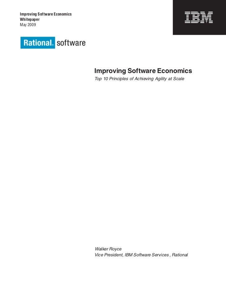 Improving Software EconomicsWhitepaperMay 2009                               Improving Software Economics                 ...