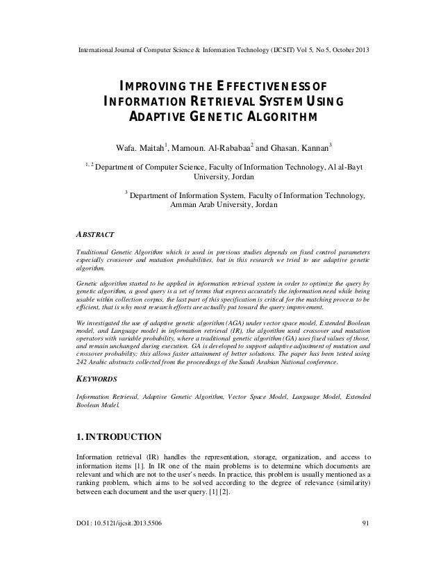 International Journal of Computer Science & Information Technology (IJCSIT) Vol 5, No 5, October 2013  IMPROVING THE EFFEC...
