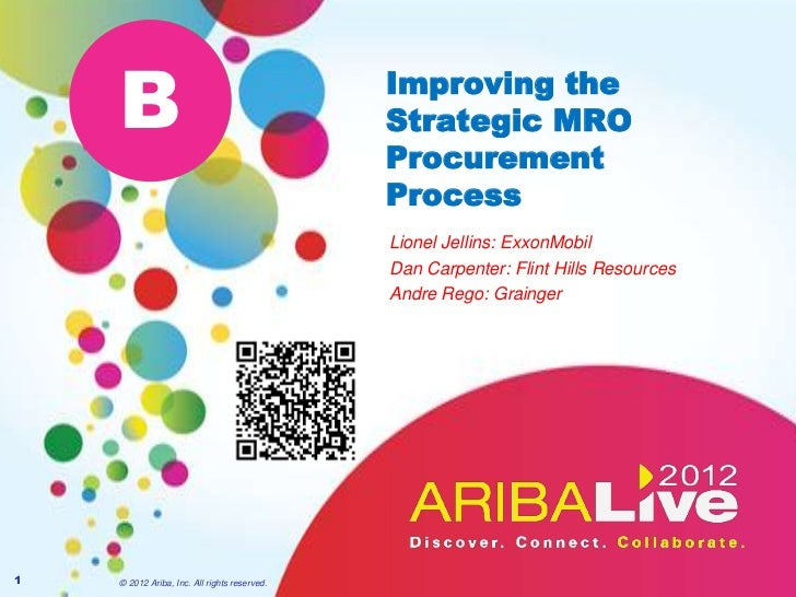 B                                         Improving the                                              Strategic MRO        ...