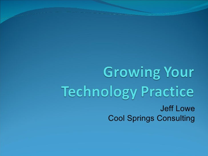 Jeff Lowe Cool Springs Consulting
