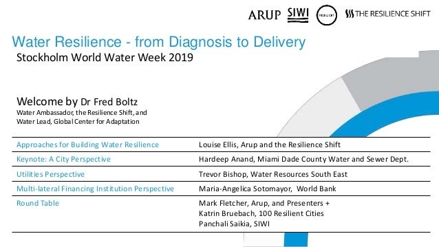 THE RESILIENCE SHIFT   THE ROCKEFELLER FOUNDATION   ARUP Water Resilience - from Diagnosis to Delivery Approaches for Buil...