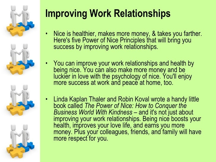 A nice working relationship