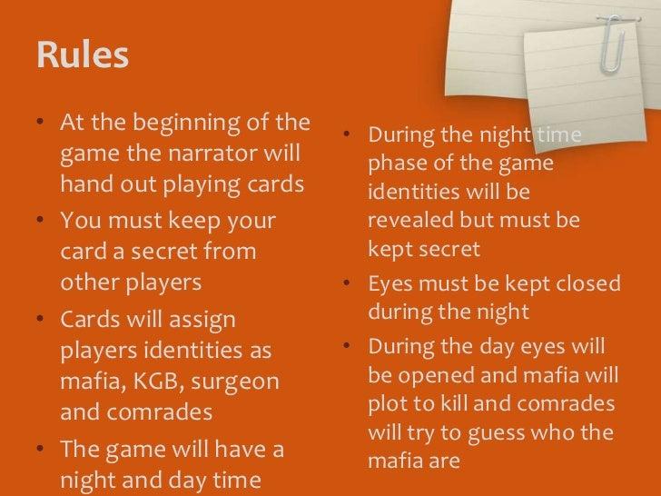 Mafia Card Game Rules Pdf Gamesworld