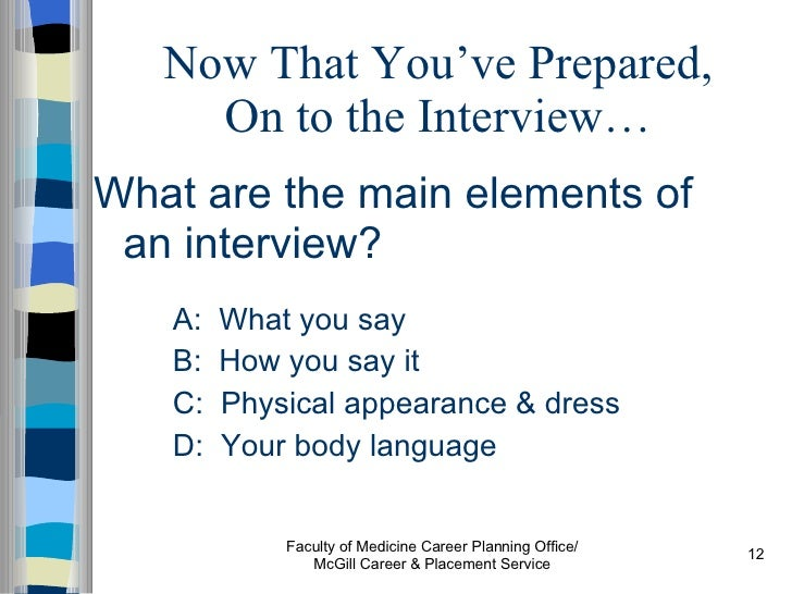 improving your interview skills for residency 2007