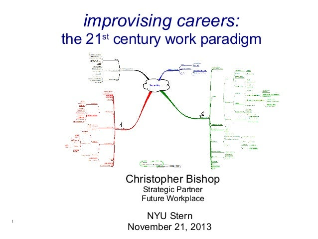 Christopher Bishop Strategic Partner Future Workplace NYU Stern November 21, 2013 improvising careers: the 21st century wo...