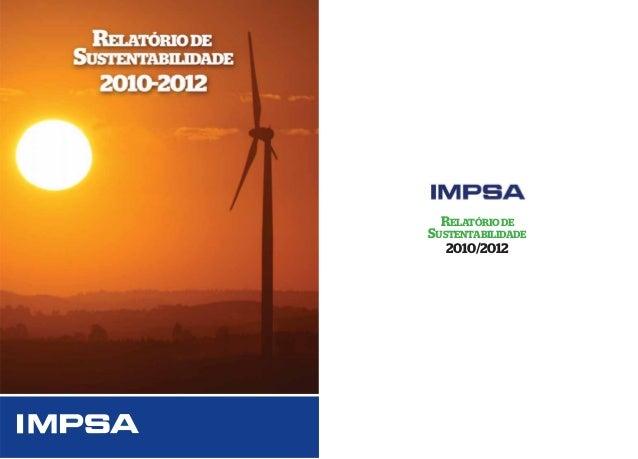RELATÓRIO DE  SUSTENTABILIDADE 2010/2012