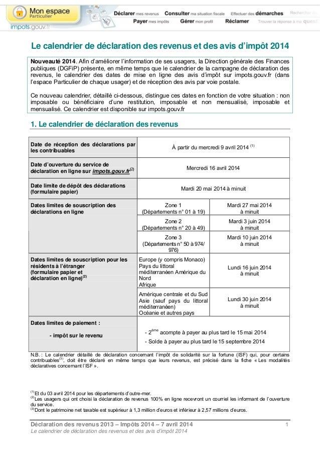Imp t sur les revenus 2013 les d clarations en ligne - Avis sur les surmatelas ...