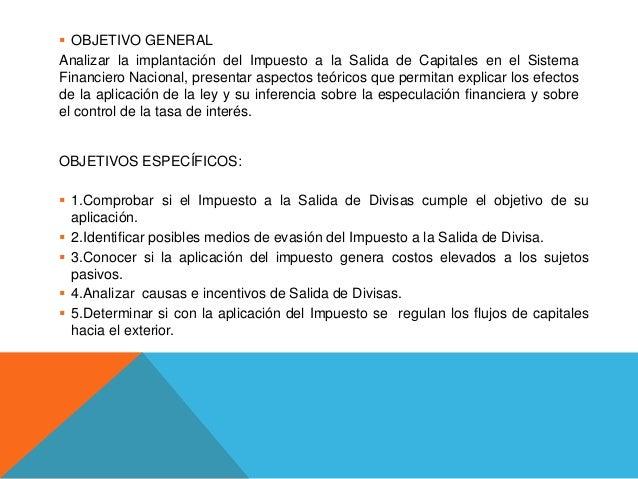 Impuesto a la salida de capital Slide 3