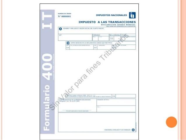 diapositiva de Impuesto a la transacción  it