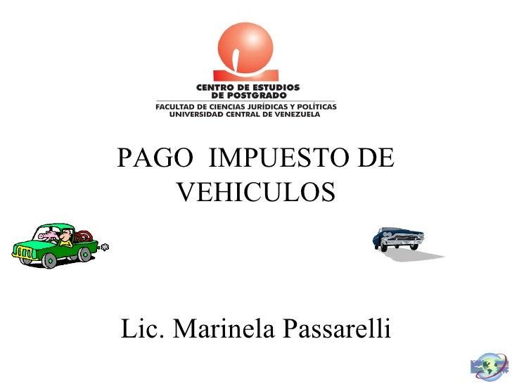 Impuesto a vehículos<br />Presentado por : <br />Fabián Serna<br />