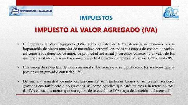 IMPUESTOS EN EL ECUADOR  Slide 3