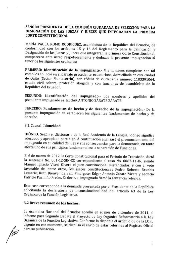 Impugnación Edgar Zárate