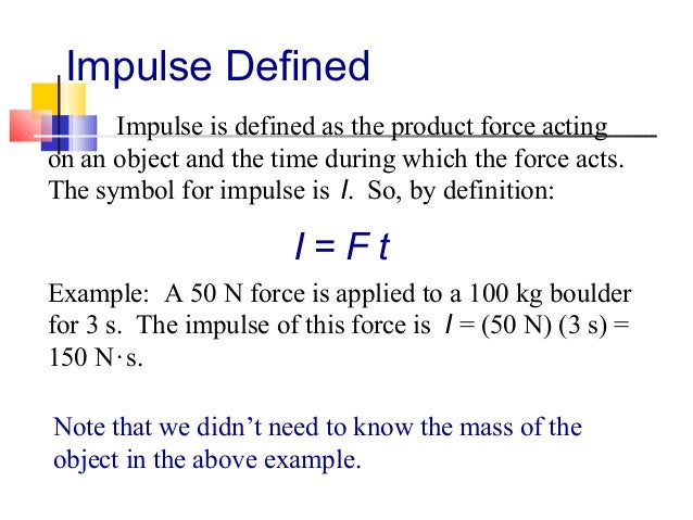 Impulse And Momentumphysics