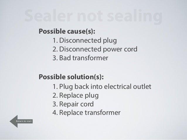 Impulse sealer trouble shooting