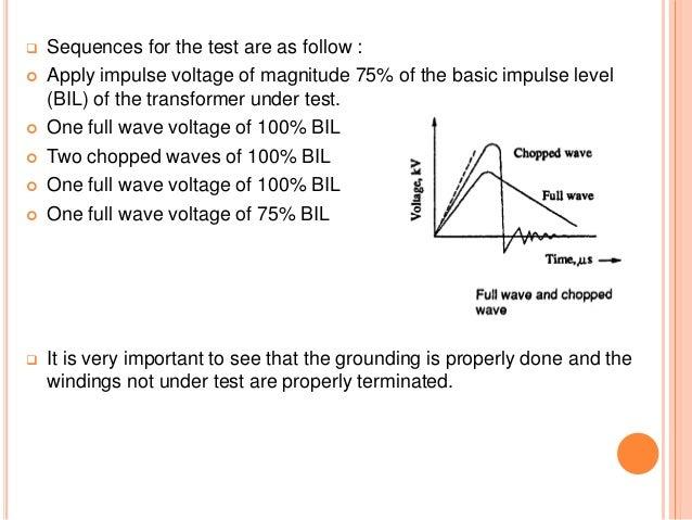 Impulse testing of transformer