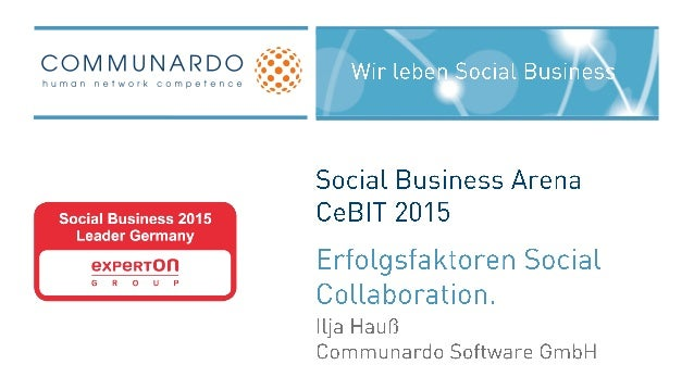 CeBIT 2015 Social Business Arena - Impulsvortrag
