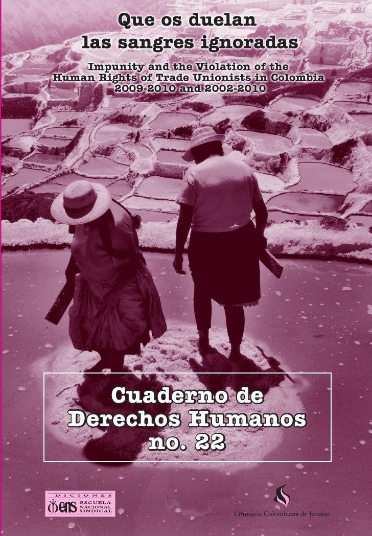 Violaciones a Impunity and the Violation of the Human Rights of Trade Unionists   1           Cuaderno de        Derechos ...