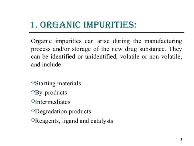 ich guidelines for impurities in drug substances pdf