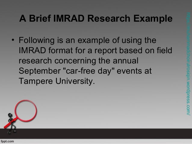 Imrad research paper