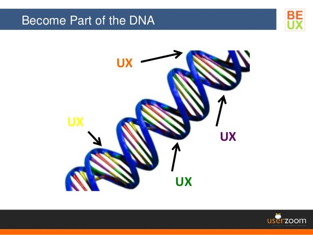 Become Part of the DNA UX UX UX UX