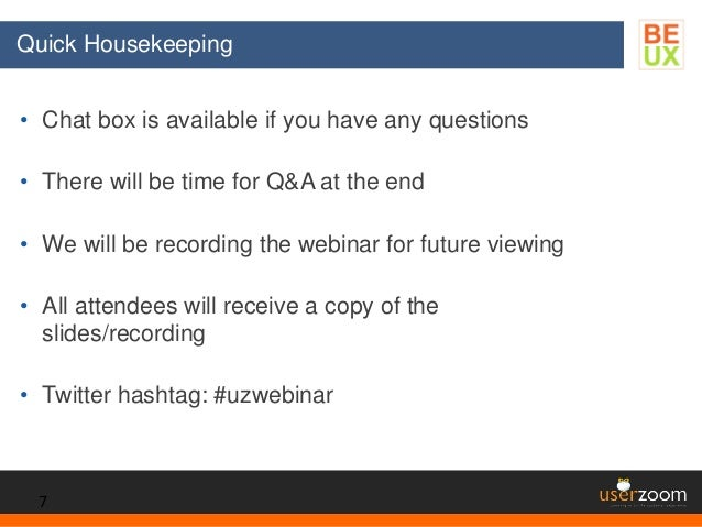 • Chat box is available if you have any questions • There will be time for Q&A at the end • We will be recording the webin...