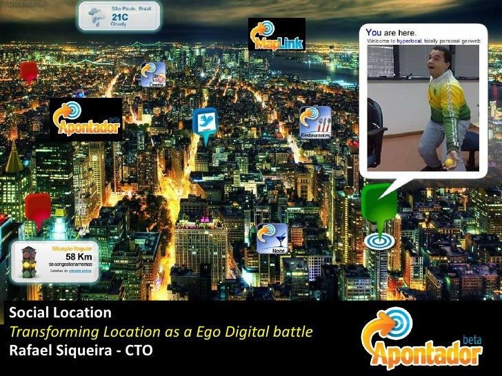 Social Location<br />Transforming Location as a Ego Digital battle<br />Rafael Siqueira - CTO<br />
