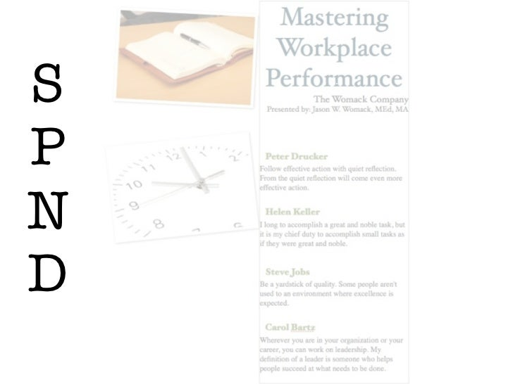 Mastering Workplace Performance for the Institute of