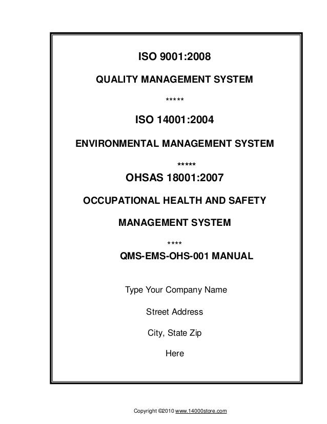 ISO 9001:2008  QUALITY MANAGEMENT SYSTEM  *****  ISO 14001:2004  ENVIRONMENTAL MANAGEMENT SYSTEM  *****  OHSAS 18001:2007 ...